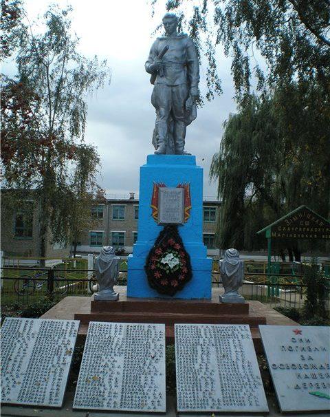 д. Б.Зимница Славгородского р-на. Памятник, установленный на братской могиле, воинов, погибших в годы войны.