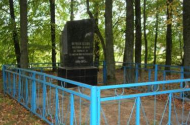 д. Харьковка Чауского р-на. Братская могила, в которой захоронено 3 воина.