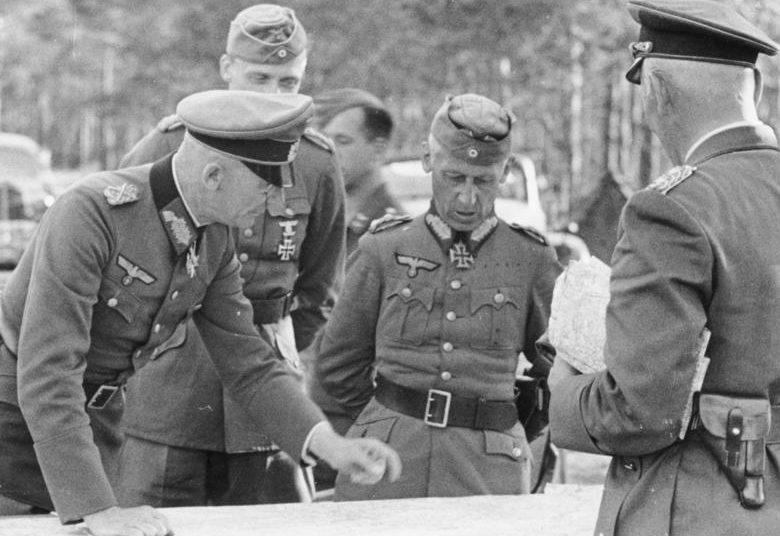 Герман Гот, Федор фон Бок и Вольфрам фон Рихтгофен. 1941 г.