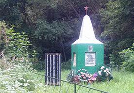 д. Кульшичи Славгородского р-на. Памятник, установленный на братской могиле, воинов, погибших в годы войны.