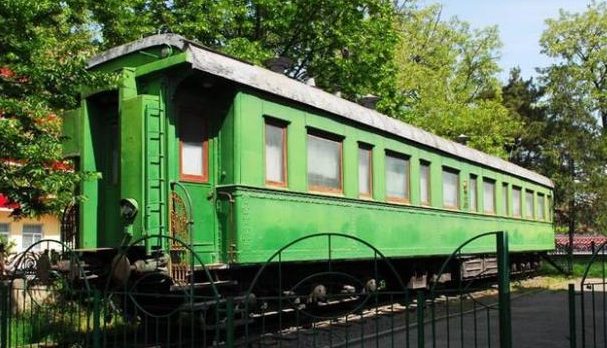 Салон-вагон Сталина в музее г. Гори.