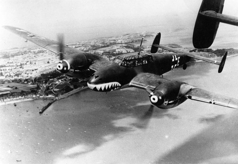 Messerschmitt BF 110C над Английским каналом. Август, 1940 г.