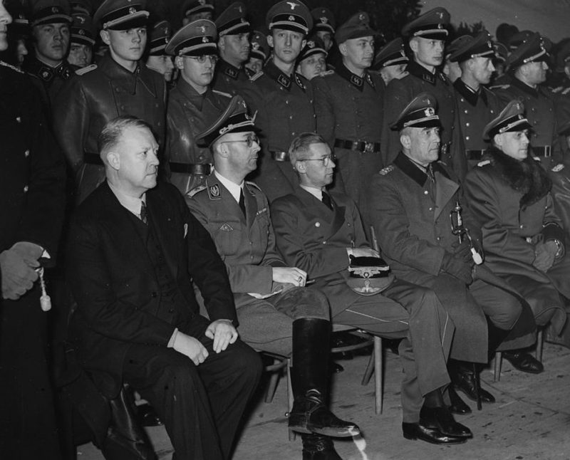 Йозеф Тербовен, Квислинг Видкун, Генрих Гиммлер. 1941 г.