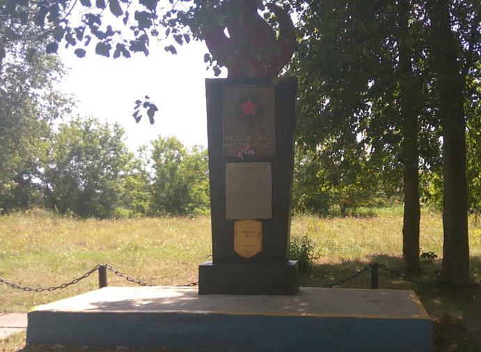 д. Летяги Славгородского р-на. Памятник, установленный на братской могиле, воинов, погибших в годы войны.