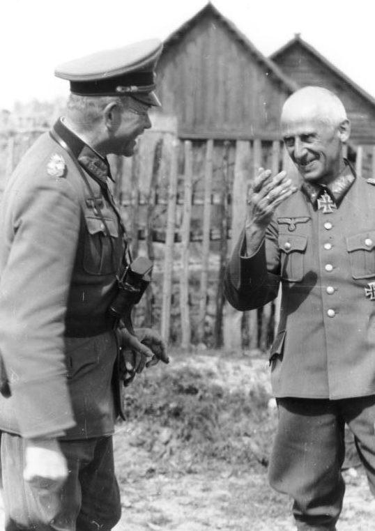 Герман Гот и Гейнц Гудериан. 1941 г.