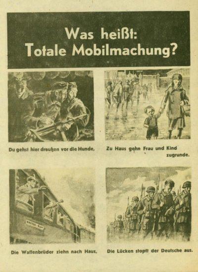 Листовка о тотальной мобилизации в Германии.