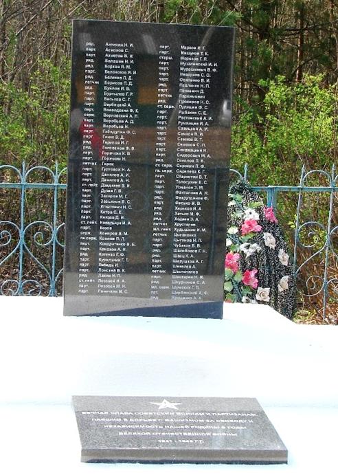д. Глубокий Брод Белыничского р-на. Братская могила, в которой похоронено 95 воинов и партизан, погибших в 1943-1944 годах.