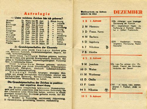 Карманный календарь для високосного года 1940.