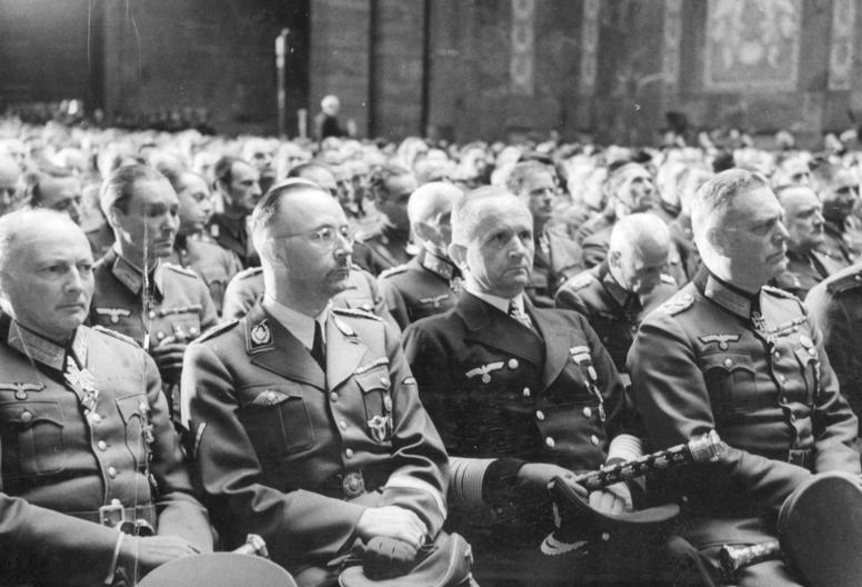 Карл Денниц, Гюнтер фон Клюге, Генрих Гиммлер и Вильгельм Кейтель. 1944 г.