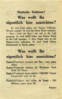 Немецкие солдаты! Вы хотите выровнять границы?
