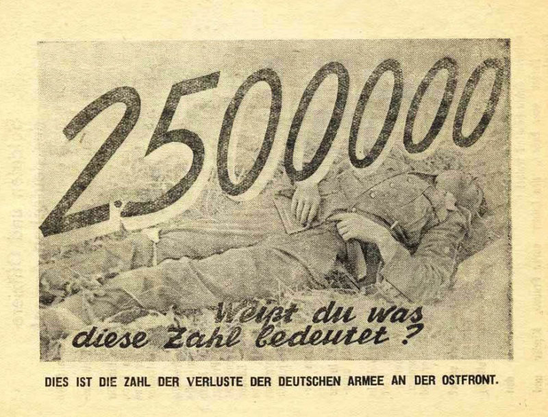 Это число потерь понесенных немецкой армией на Восточном фронте