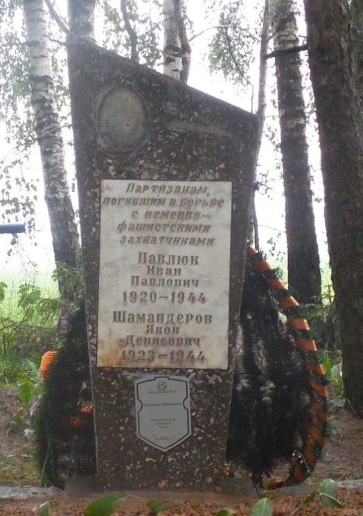 д. Залесье Могилевского р-на. Братская могила партизан.