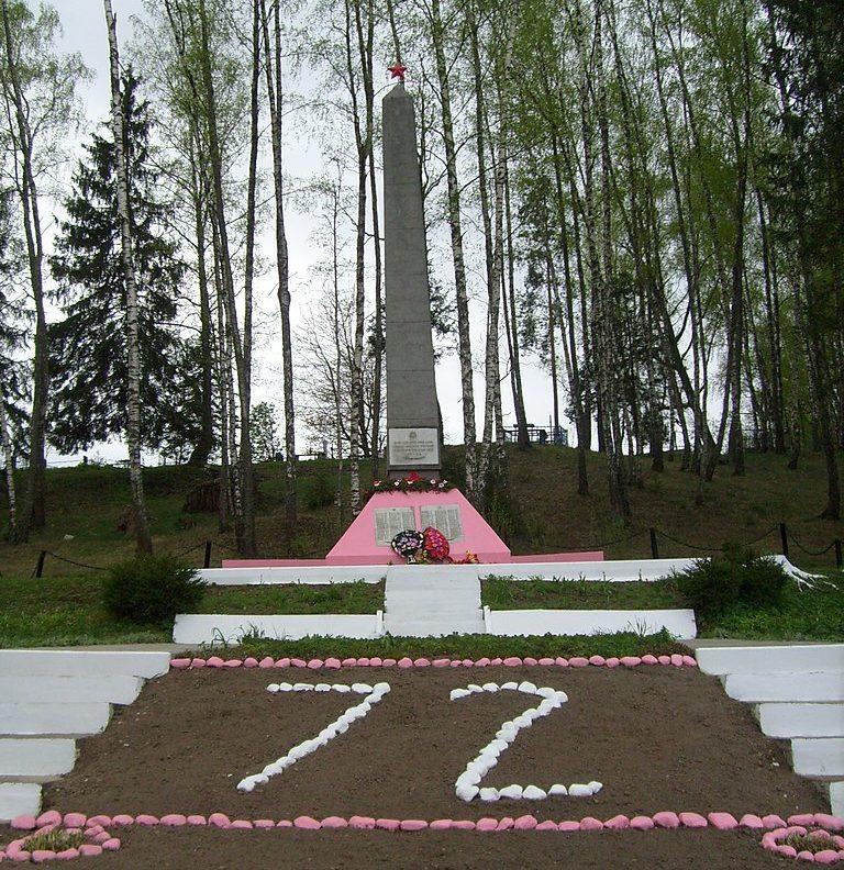д. Трилесино Дрибинского р-на. Братская могила советских воинов, погибших в годы войны.