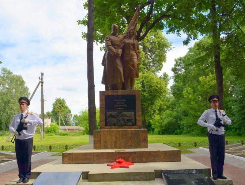 г. Славгород. Памятник по улице Ленинской, установленный на братской могиле воинов, погибших в годы войны.