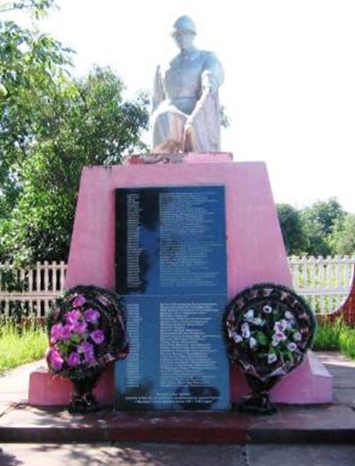 д. Бацевичи Кличевского р-на. Памятник, установленный в 1964 году на братской могиле, в которой похоронено 127 советских воинов и партизан, в т.ч. 63 неизвестных, погибших в годы войны.