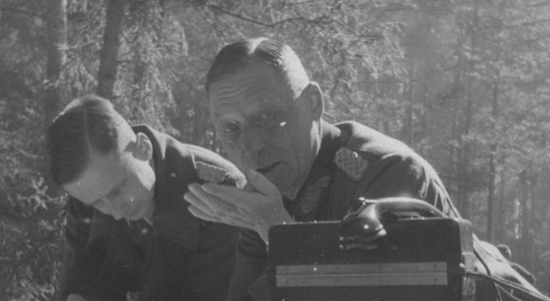 Карл Альмендингер на полевом командном пункте. 1942 г.