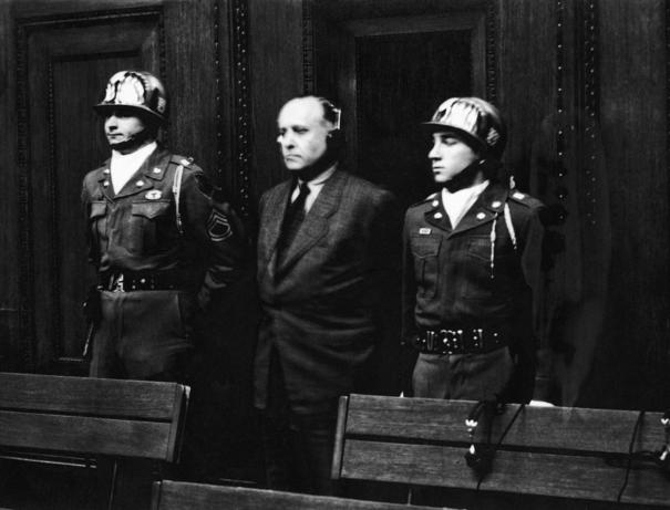 Рихард Дарре на Нюрнберском процессе. 1946 г.
