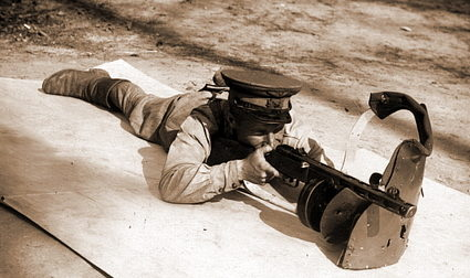 Использование СН-42 для стрельбы лёжа.