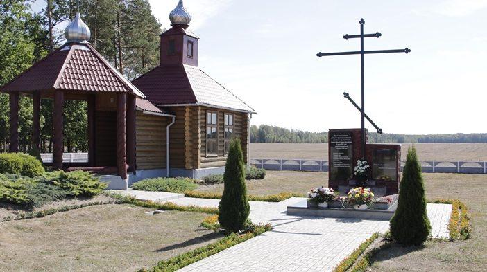 д. Борки Кировского р-на. Братская могила, в которой похоронено 12 советских воинов, в т.ч. 4 неизвестных, погибших в годы войны.