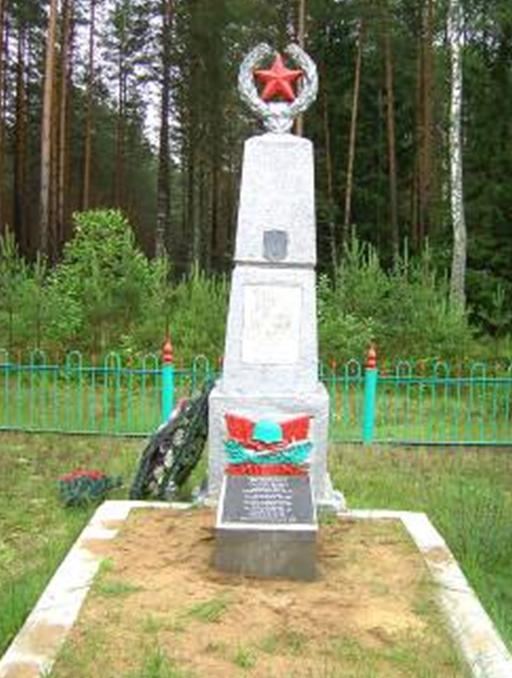 д. Гонча Кличевского р-на. Памятник был установлен в 1959 году на братской могиле, в которой похоронено 38 воинов, в т.ч. 25 неизвестных, погибших в годы войны.