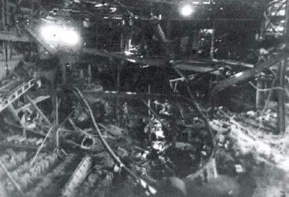 Разрушенный литейный цех ковкого чугуна №1.