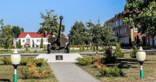г. Славгород. Пушка-памятник, посвященный освободителям города.