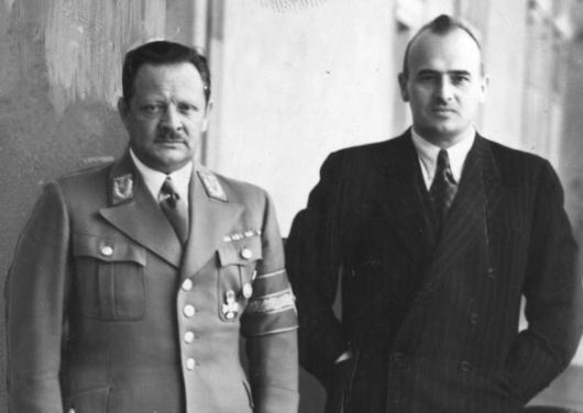 Эрих Кох и Гансс Франк. 1944 г.