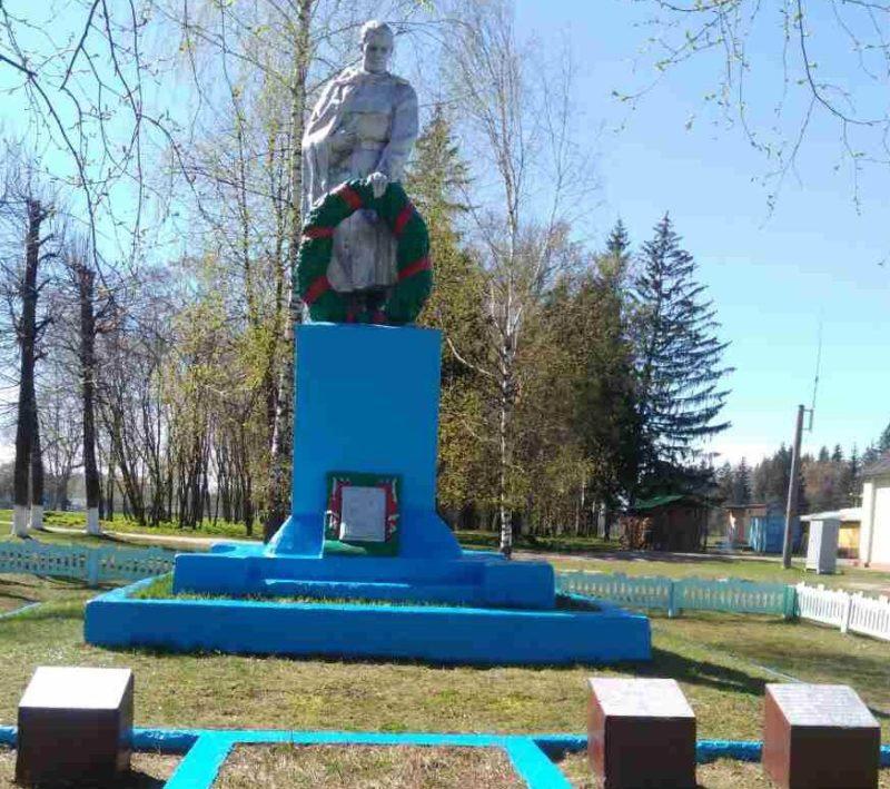 д. Веремейки Чериковского р-на. Памятник, установленный на братской могиле, в которой похоронено 108 советских воинов, в т.ч. 2 неизвестных, погибших в 1943 году.