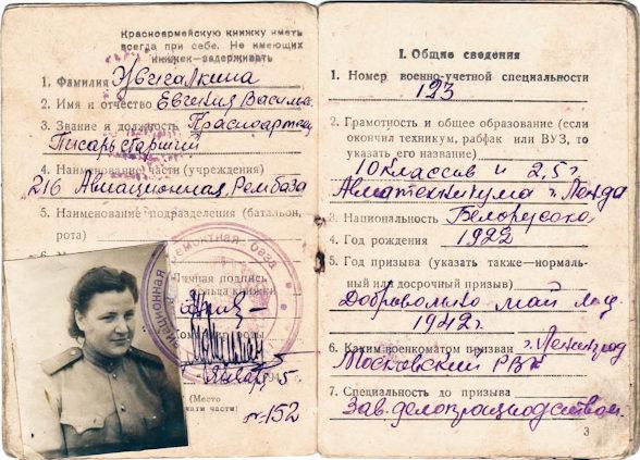 Красноармейская книжка военнослужащей женщины-писаря.