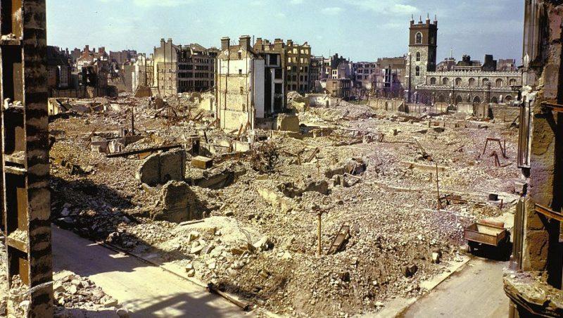 Разрушенный квартал. 7 сентября 1940 г.
