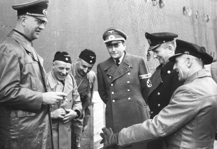 Альберт Шпеер, Карл Денниц, Фридрих Фромм. 1942 г.