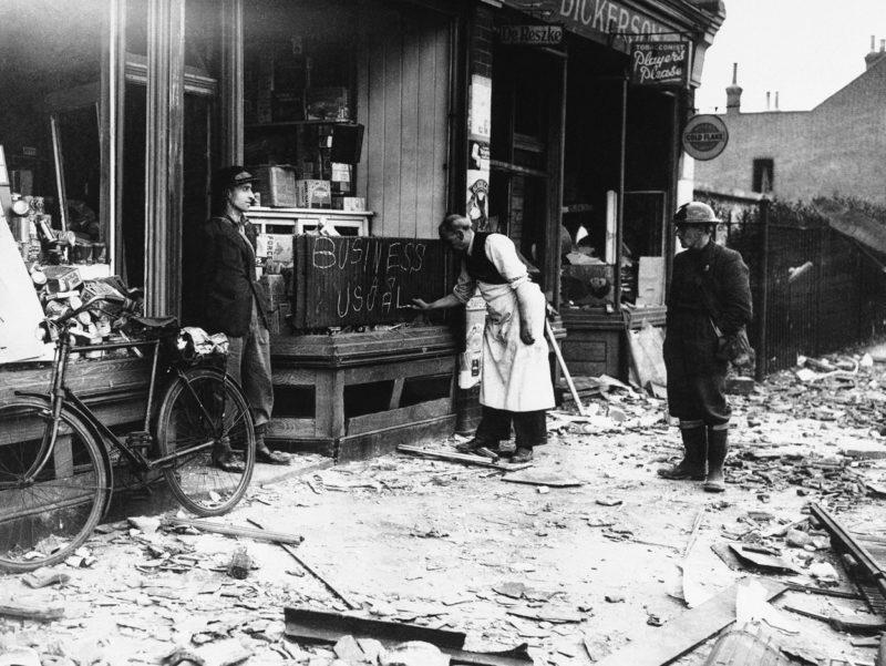 Жизнь на разбитых улицах. 1940 г.