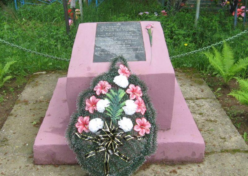 д. Букино Кировского р-на. Братская могила, в которой похоронено 5 советских воинов, погибших в годы войны.
