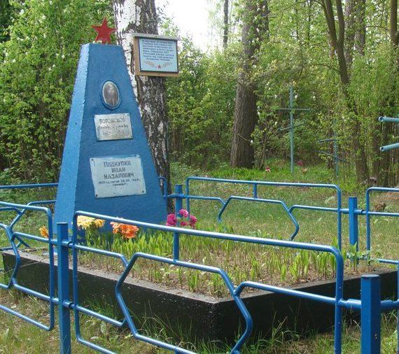 д. Узлоги Хотимского р-на. Памятник, установленный на братской могиле, в которой похоронено 2 неизвестных советских воина, погибших в 1943 году.