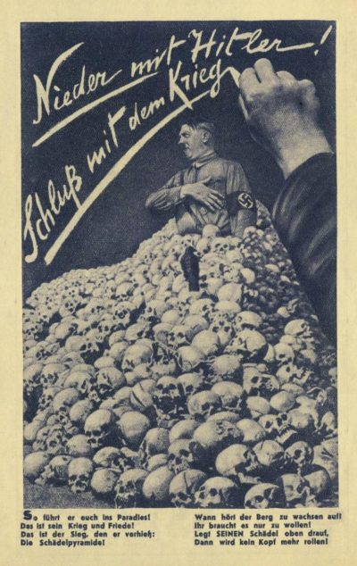 С Гитлером война никогда не закончится.