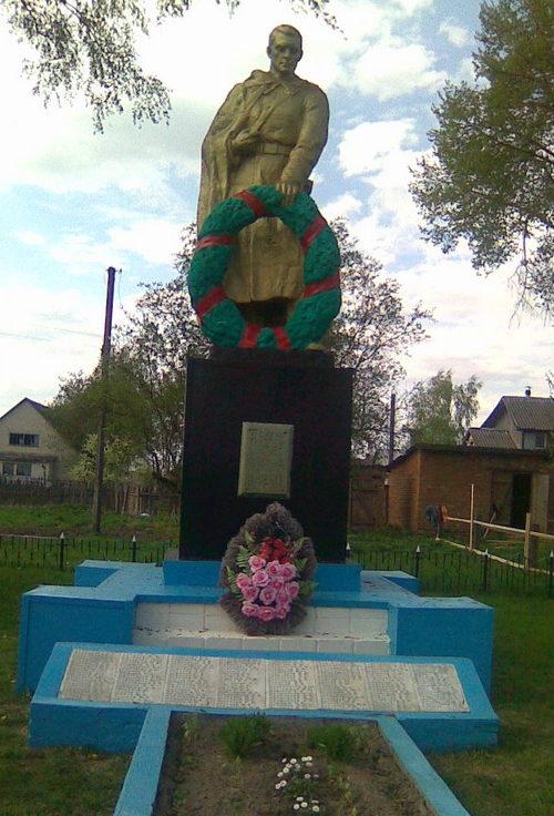 д. Лобановка Чериковского р-на. Памятник на братской могиле, в которой похоронено 175 советских воинов, в т.ч. 72 неизвестных, погибших в годы войны.