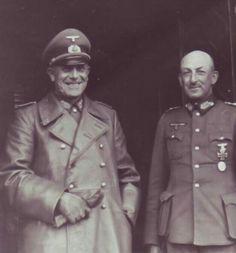 Ганс Юрген Арним и генерал-полковник Карл-Адольф Голлидт.1939 г.