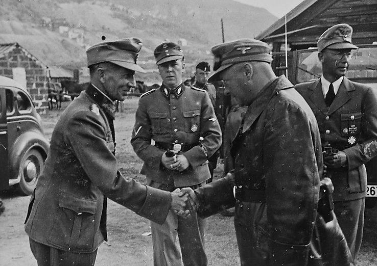 Йозеф Тербовен путешествует по Северной Норвегии. 1942 г.