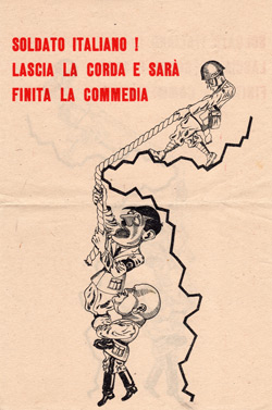 Итальянские солдаты, возвращайтесь домой, завершайте комедию.