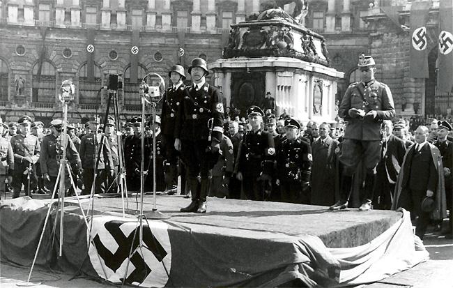 Выступление Генриха Гиммлера. 1938 г.