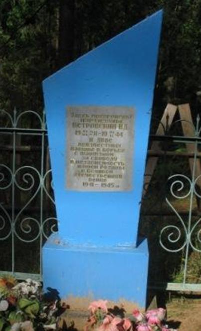 д. Николаевка Белыничского р-на. Братская могила на кладбище, в которой похоронено 3 партизана, погибших в 1943 г.