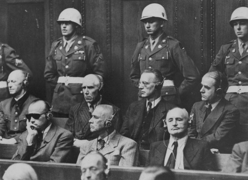 Ялмар Шахт на Нюрнберском процессе. 1945 г.