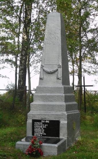 д. Тыща Мстиславского р-на. Памятник установлен в 1965 году на братской могиле, в которой похоронено 73 советских воина, погибших в годы войны.