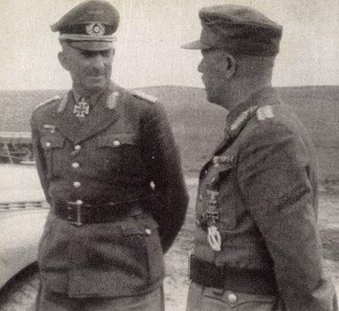 Ганс Юрген Арним и генерал-лейтенант Фридрих Вебер. 1942 г.