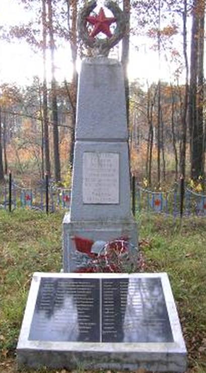 д. Ковяза Кличевского р-на. Памятник установлен на братской могиле, в которой похоронено 30 советских воинов и партизан, погибших в годы войны.