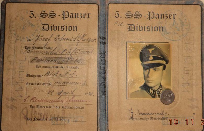 Удостоверения военнослужащих бронетанковых войск СС.