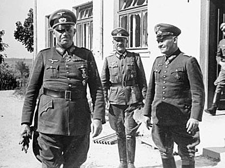 Эрих Гёпнер и Эрнст Буш на Восточном фронте. 1941 г.