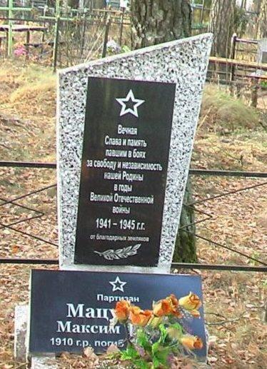 д. Незовка Могилевского р-на. Братская могила на сельском кладбище, в которой похоронено 18 воинов.