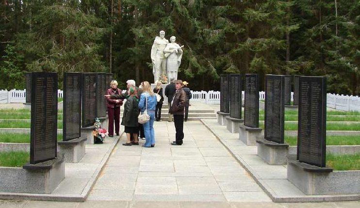 д. Быново Чаусского р-на. Воинское кладбище, где похоронено 214 воинов, в т.ч. 35 неизвестных.