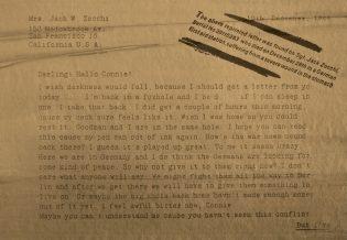 Письмо сержанта Jack Zocchi